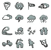 Tornado Icons Freehand 2 Color. This image is a vector illustration and can be scaled to any size without loss of resolution stock illustration