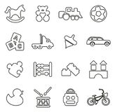 Toys Icons Thin Line Vector Illustration Set. This image is a vector illustration and can be scaled to any size without loss of resolution Royalty Free Stock Photo