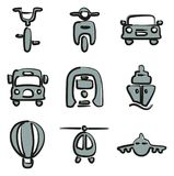 Transport Icons Freehand 2 Color. This image is a vector illustration and can be scaled to any size without loss of resolution Royalty Free Stock Photography