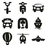 Transport Icons Freehand Fill. This image is a vector illustration and can be scaled to any size without loss of resolution Stock Photos