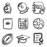 University Icons Freehand. This image is a vector illustration and can be scaled to any size without loss of resolution Vector Illustration