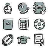 University Icons Freehand 2 Color. This image is a vector illustration and can be scaled to any size without loss of resolution Stock Illustration