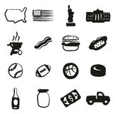 USA Icons Freehand Fill Stock Photo