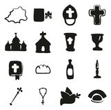 Vatican Icons Freehand Fill Royalty Free Stock Image