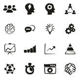 Work Productivity Icons Freehand Fill. This image is a vector illustration and can be scaled to any size without loss of resolution Royalty Free Stock Photography