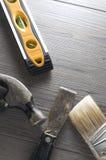 Image verticale des outils sur le plancher Images libres de droits