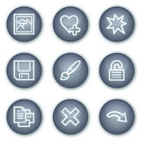 Image viever web icons set 2, mineral circle Stock Image
