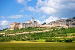 Assisi in Italy Umbria. An image of a view to Assisi in Italy Umbria royalty free stock photo