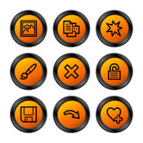 Image viewer 2 icons, orange Stock Photography