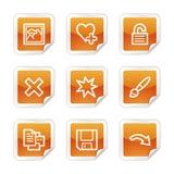 Image viewer 2 web icons Stock Image