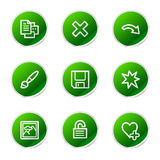 Image viewer 2 web icons. Vector web icons, green sticker series icon set Stock Photography