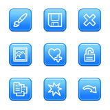 Image viewer 2 web icons. Vector web icons, blue glossy buttons series, V2 Royalty Free Stock Images