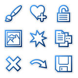 Image viewer icons 2. Vector web icons, blue contour series, V2