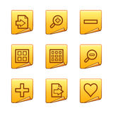 Image viewer icons Stock Image