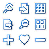Image viewer icons (blue). Vector web icons, blue contour series, V2 Stock Image
