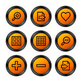 Image viewer icons, orange Stock Images