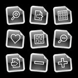Image viewer icons, sticker Stock Photos