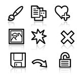 Image viewer web icons 2. Vector web icons, black contour series