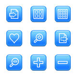 Image viewer web icons. Vector web icons, blue glossy buttons series, V2 Stock Images