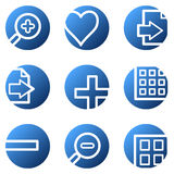 Image viewer web icons. Vector web icons, blue circle series Royalty Free Stock Photo