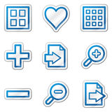 Image viewer web icons, blue contour sticker Stock Image