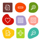 Image viewer web icons, colour spots series Stock Images