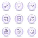 Image viewer web icons, glossy pearl series set 2 Stock Images