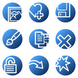 Image viewer web icons set 2 Stock Photography
