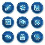 Image viewer web icons set 2, blue circle buttons. Vector web icons set. Easy to edit, scale and colorize Royalty Free Stock Image
