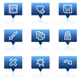 Image viewer web icons set 2, blue speech bubbles Royalty Free Stock Photo