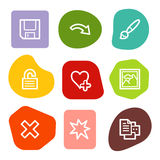 Image viewer web icons set 2, colour spots series Royalty Free Stock Images
