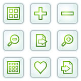 Image viewer web icons, white square buttons Stock Image