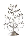 Image of vintage antique classical frame of family tree on white. Stock Images