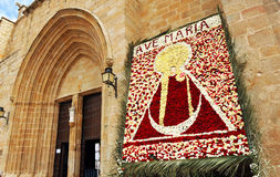 Image of the Virgin, feast of the patroness, the Cathedral of Caceres, Extremadura, Spain Stock Photo