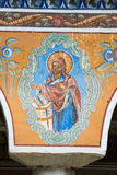 Image of the Virgin on the frescoes of the monastery Bachkovski Royalty Free Stock Image