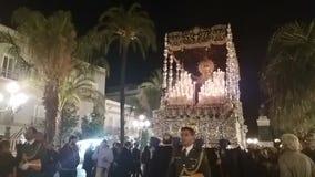 Image of the Virgin, Holy Week in Cadiz. stock video footage