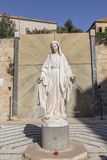The image of the virgin Mary in the courtyard of the Church of the Annunciation Royalty Free Stock Photography