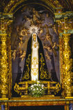 Image of the Virgin Mary in gilded chapel Royalty Free Stock Photos