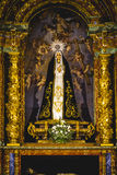 Image of the Virgin Mary in gilded chapel Stock Image