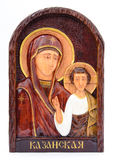 The image of the Virgin Mary on the iconostasis Royalty Free Stock Image