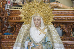 Image of the Virgin Mary inside a church Marbella, Andalucia Spa Royalty Free Stock Photo