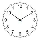 Image of wall clock isolated on white vector Royalty Free Stock Photos