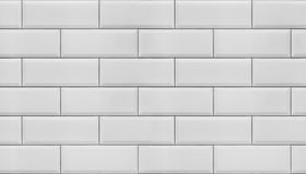 Wall of white tiles. Royalty Free Stock Photos