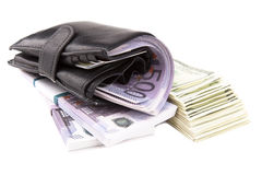 Image of a wallet  with money Royalty Free Stock Images