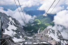 Amazing View of Clouds and Foot Mountain. This image was photographed in Dachstein, Austria. You get amazing view from this edge of platform which stands over stock photo