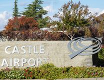 Castle Air Museum Logo and Sign royalty free stock image