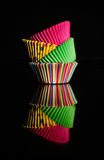 Colorful cake cup. This image was taken in Dubai Stock Photo