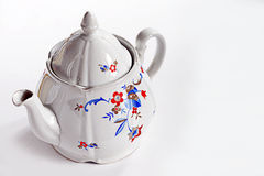 Vintage china teapot on white background. Image was taken on February 2013 Royalty Free Stock Images