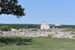 Fort McKavett ruins in Central Texas. This image was taken at Fort McKavett in Central Texas Sept of 2017 Stock Photography