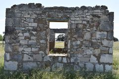 Fort McKavett ruins in Central Texas. This image was taken at Fort McKavett in Central Texas Sept of 2017 Stock Image